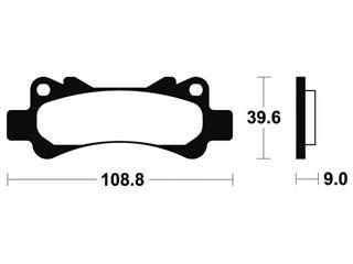 Plaquettes de frein Bendix  MCR266 Métal fritté carbone