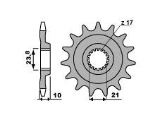 Pignon 14 dents PBR chaîne 520 Suzuki RM-Z450 - 46000021
