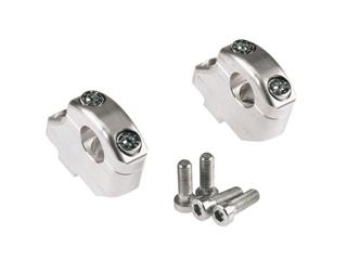Offset mounts and risers, LSL silver-plated 16/25MM, for handlebars Ø22mm