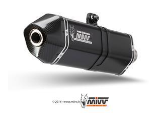 Silencieux MIVV Speed Edge inox brossé noir/casquette carbone Triumph Tiger 1050 Sport