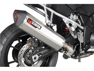 Silencieux SCORPION Serket Parallel inox/casquette ABS noir Suzuki V-Strom 1000 - 996433bb-12df-4938-8de0-426060b1364b