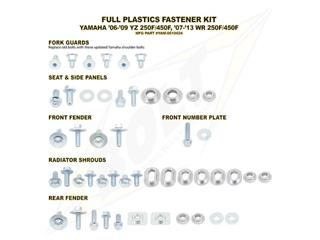 Complete set of Bolt plastic screws for Yamaha YZ250/450F