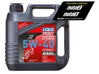 Garrafa de 4L aceite Liqui Moly Motorbike 4T 100% sintético 5W-40 Street Race 1685