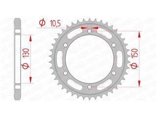 Couronne AFAM 39 dents acier standard pas 525 type 12606