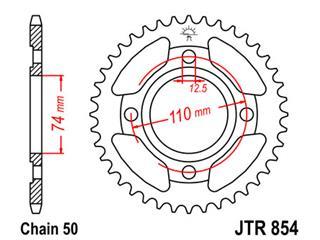 Couronne JT SPROCKETS 43 dents acier pas 530 type 854 - 47085443