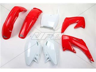 Kit plastique UFO couleur origine rouge/blanc Honda CR125R/250R - 78143400