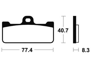 Plaquettes de frein TECNIUM MSR195 métal fritté - 9ae177f9-59fa-4f27-bb1b-f97f67a02fb1