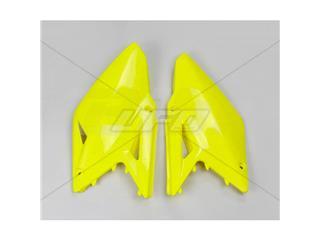 Tampas laterais traseiro UFO Suzuki amarelo fluor