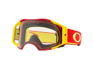 Masque OAKLEY Airbrake MX rouge/jaune écran transparent