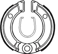 Machoires de frein TECNIUM BA010 organique - 390100