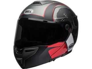 BELL SRT Modular Helmet Hart-Luck Gloss Matte Charcoal/White/Red Skull Size XL