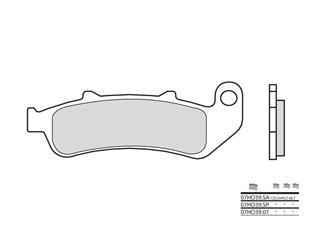 Plaquettes de frein BREMBO 07HO39SA métal fritté - 38800292