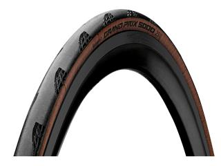 Neumático Continental Grand Prix 5000 plegable 700x28C flanco marrón