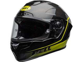 BELL Race Star Flex DLX Helmet Velocity Matte/Gloss Black/Hi Viz Size L - 800000022270
