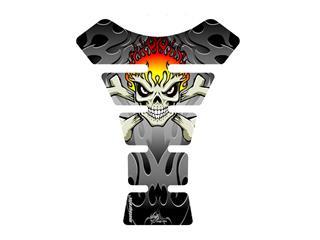 MOTOGRAFIX Tank Pad Street Style 1pc Black/Silver  Ducati