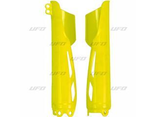 Protège fourche UFO jaune fluo Honda CR250/450R-RX - 4430000523