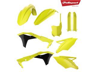 Kit plastiques POLISPORT jaune fluo Kawasaki KX250F - 790717FY