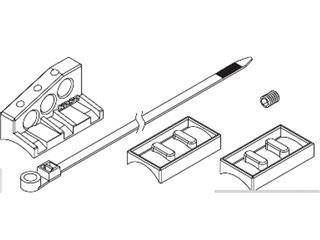 Fixation de capteur de vitesse M10 Koso L-Type