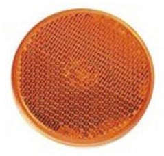 V PARTS Ø55mm Round Reflector Orange - with Tape