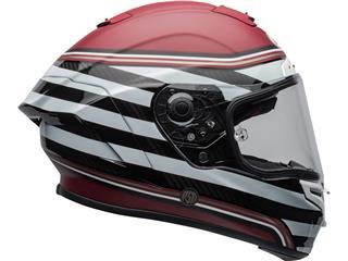 Casco Bell Race Star DLX RSD THE ZONE Blanco/Granate/Rojo, Talla XS