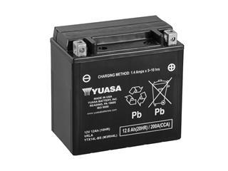 Batterie YUASA YTX14L-BS sans entretien livrée avec pack acide - 32YTX14LBS