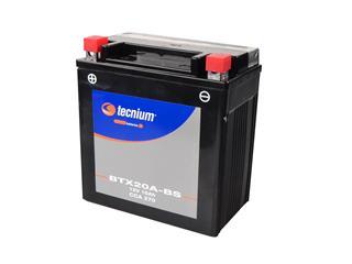 Batterie TECNIUM BTX20A-BS sans entretien livrée avec pack acide