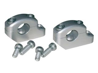 SILVER-PLATED OFFSET BAR MOUNTS LSL FOR TRIPLE CLAMPS LSL Ø22MM