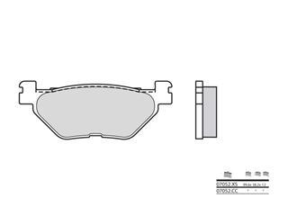 Plaquettes de frein BREMBO 07052XS carbone céramique organique