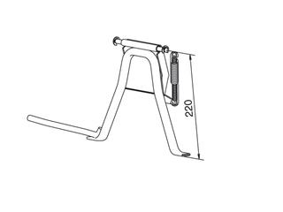 CENTRE STAND FOR PEUGEOT LUDI 12-14""