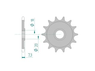 AFAM Front Sprocket 13 Teeth Steel Self-Cleaning Pitch 520 Type 20206 HM-Honda 125 CRE