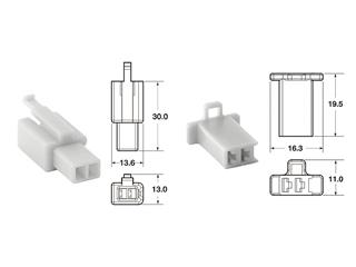 BIHR 2 plugs end set Connectors 110 ML OE Type Ø0,5mm²/0,85mm² - 5 sets