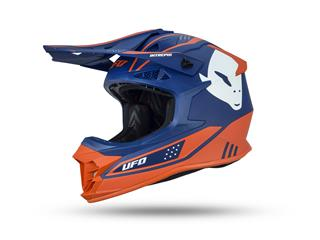 UFO Intrepid Helmet Blue/Neon Orange Size S - 801001490768