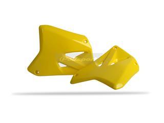 Ouïes de radiateur POLISPORT jaune Suzuki RM125/RM250 - PS415Y01