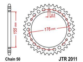 ACHTERTANDWIEL STAAL 45 T T509 SPEED TRIPLE '97-'98 955I SPEED TRIPLE '99-'01