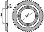 Couronne PBR 50 dents acier standard pas 428 type 822 SUZUKI TS125 X - 47002447