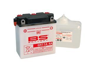 Batterie BS BATTERY 6N11A-4 conventionnelle livrée avec pack acide - 321042