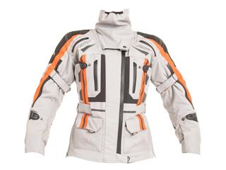 RST Pro Series Paragon V Jacket Textile silver/Flo Red Size S Women - 114260610