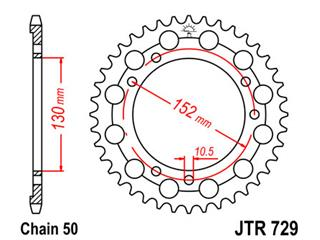 Couronne JT SPROCKETS 46 dents acier standard pas 530 type 729 - 47072946