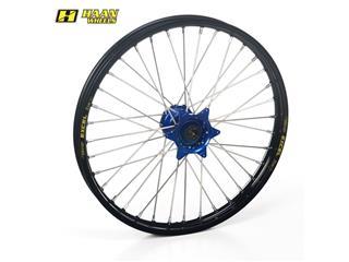 HAAN WHEELS Compleet Voorwiel 17x1,40x36T Zwart Velg/Blauw Naaf/Zilver Spaaken/Zilver Spaakennippel