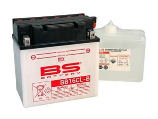 Batterie BS BATTERY BB16CL-B haute performance livrée avec pack acide - 321819