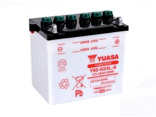 Batterie YUASA Y60-N24L-A conventionnelle - 32Y60N24LA