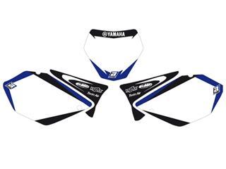 Fonds de plaque BLACKBIRD Graphic blanc Yamaha YZ125-250