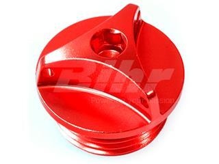 Tampão de enchimento de óleo BMW M24x2 alumínio vermelha
