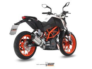 MIVV SUONO Stainless/Carbon End Cap Full Exhasut System KTM 390 Duke
