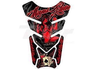 Protector de depósito Motografix STREET 4 piezas negro rojo
