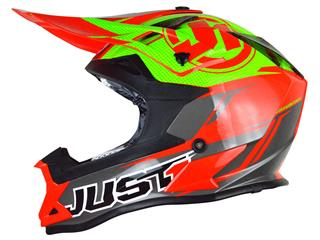 JUST1 J32 Pro Helmet Rave Red/Lime Size XL - 430112XL