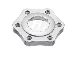 Adaptador disco universal a center lock com arruela de vedação e espaçador cor prata