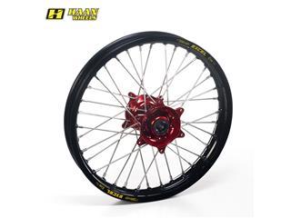 HAAN WHEELS Complete Rear Wheel 19x2,15x36T Black Rim/Red Hub/Silver Spokes/Silver Spoke Nuts