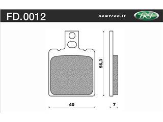 Plaquettes de frein NEWFREN FD0012BA organique - 3800121