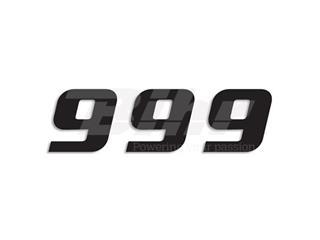 Numeros de carrera negro - Pack de 3 Uds Blackbird PVC 5049/20/9 - 39057